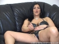 Jerk off teacher in latex bikini demos masturbation